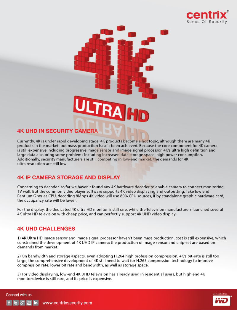 4K Ultra high definition information | Centrix Security